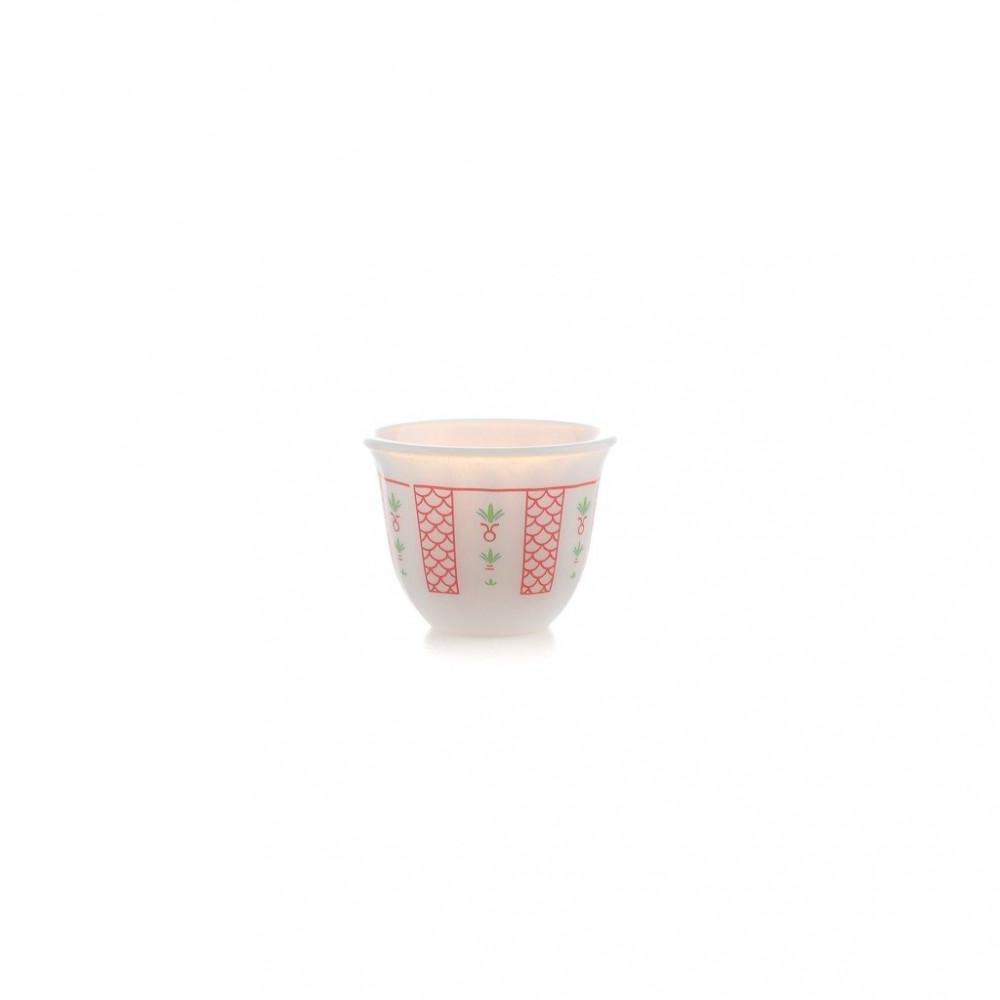 فنجان الكيف اركوبال احمر صغير