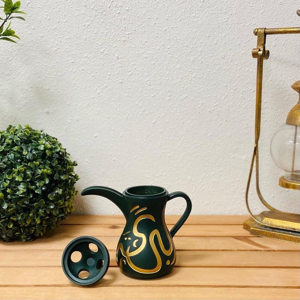 مبخرة الدلة اخضر احرف ذهبي مباخر ومداخن بخور ديكورات المنزل دلة مميزة
