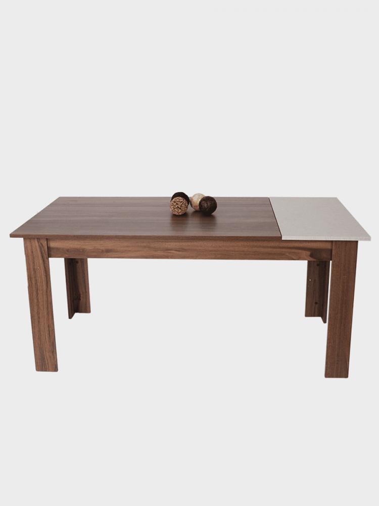 طاولة سفرة تركي موديل فلورا  فخمة بتصميم مودرن من الخشب الطبيعي