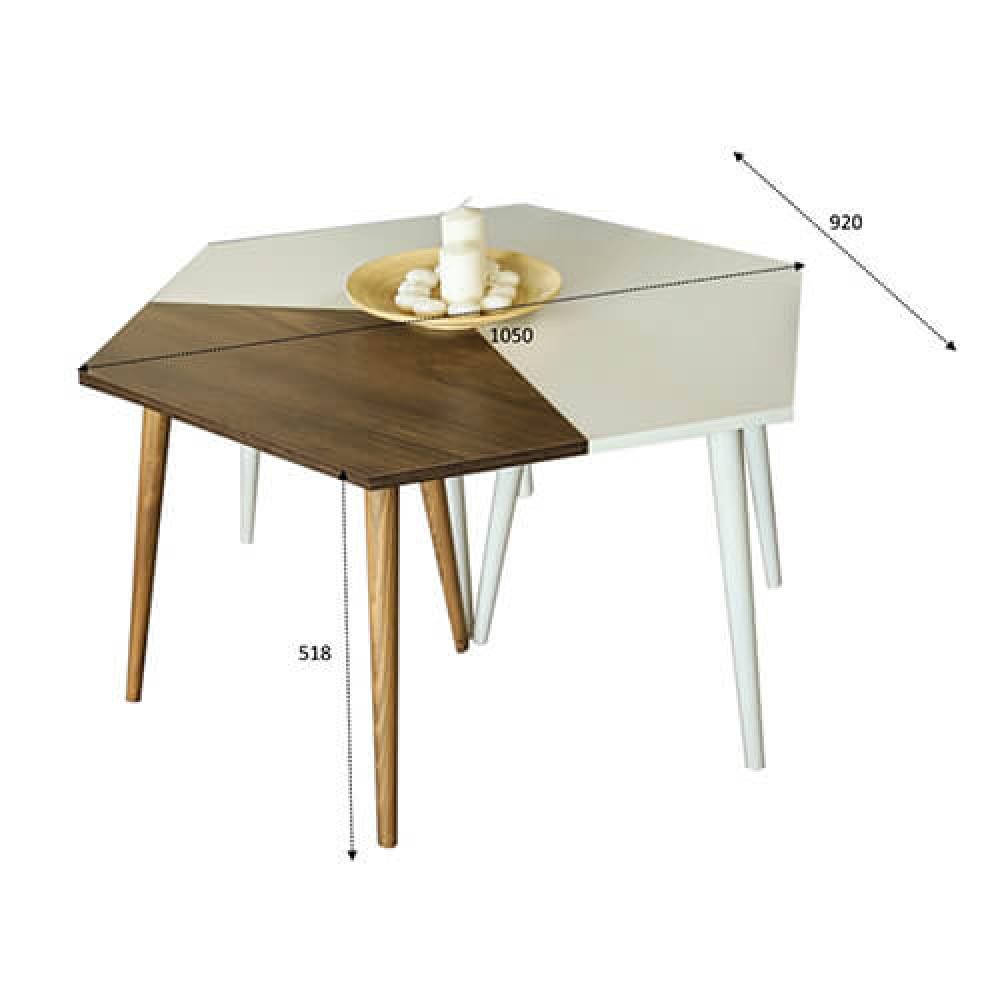 صور طاولات قهوه طاولة القهوة خشب ابيض وبني موديل سيفا