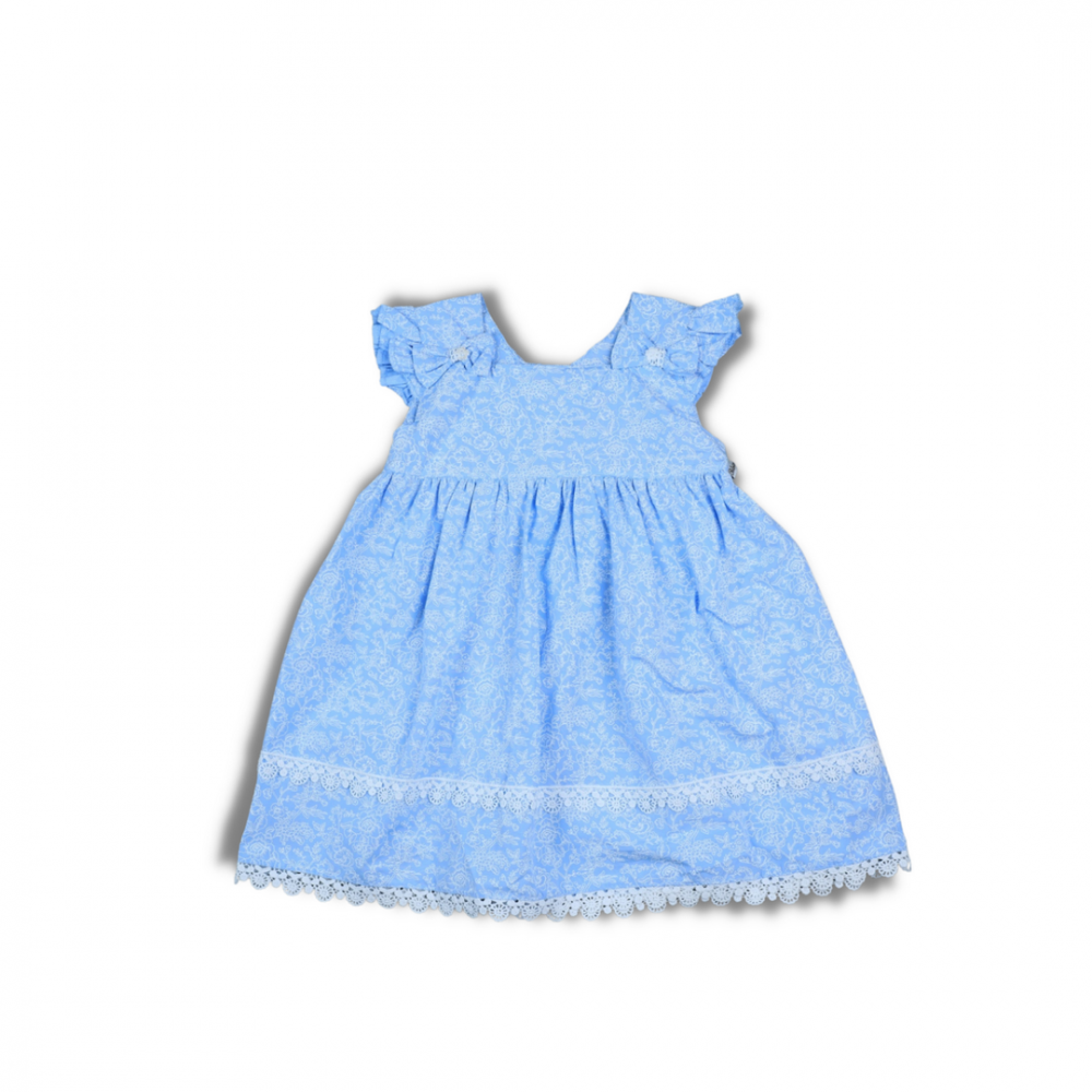 فستان أطفال أزرق
