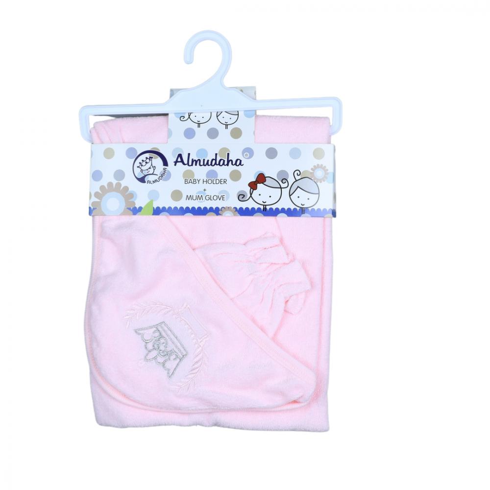 منشفة اطفال مع قفاز للأم