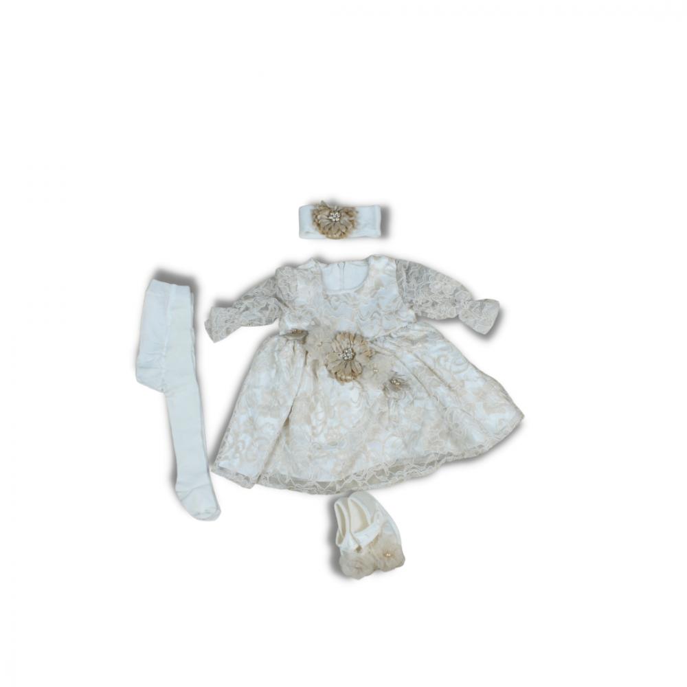 طقم فستان مواليد للعيد