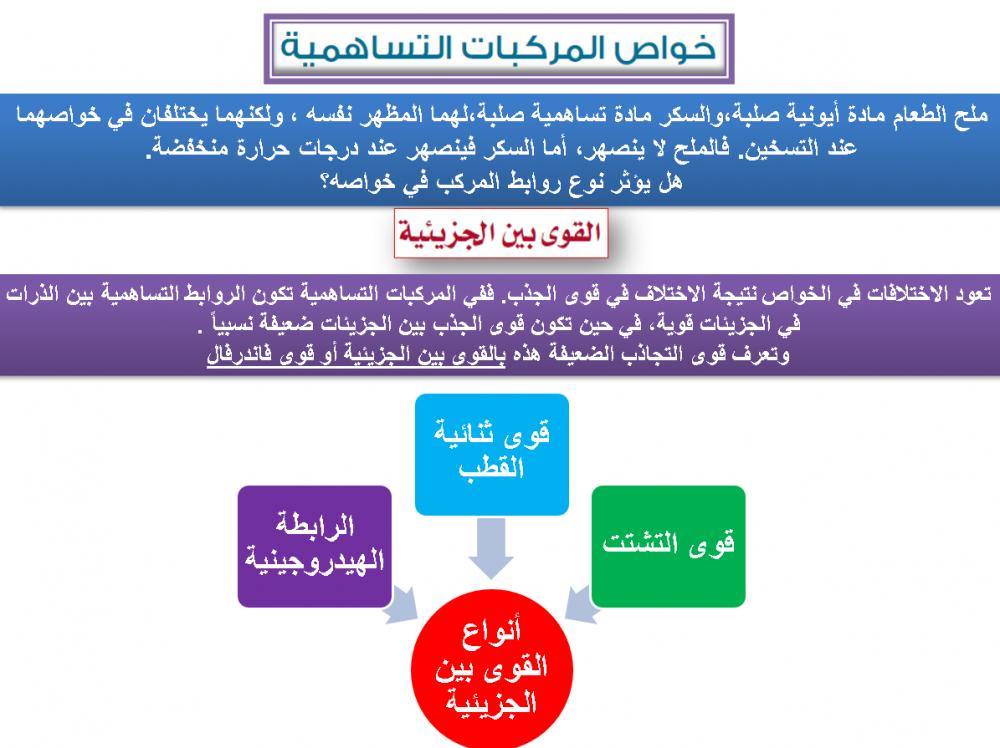 تحضير كيمياء 2 مقررات بالطريقة الثلاثية