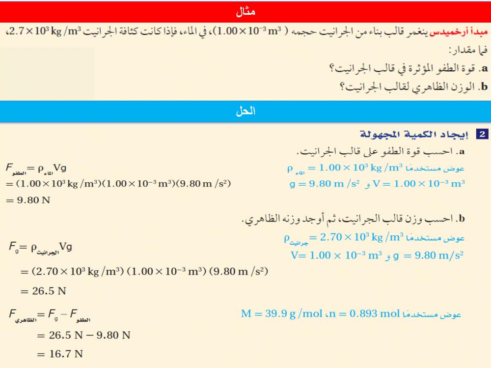 توزيع فيزياء 2 مقررات
