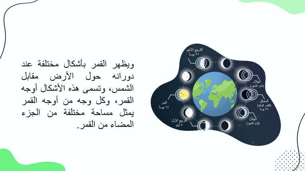 دوران القمر حول الارض