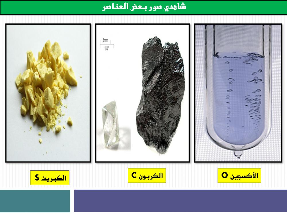العناصر والمركبات
