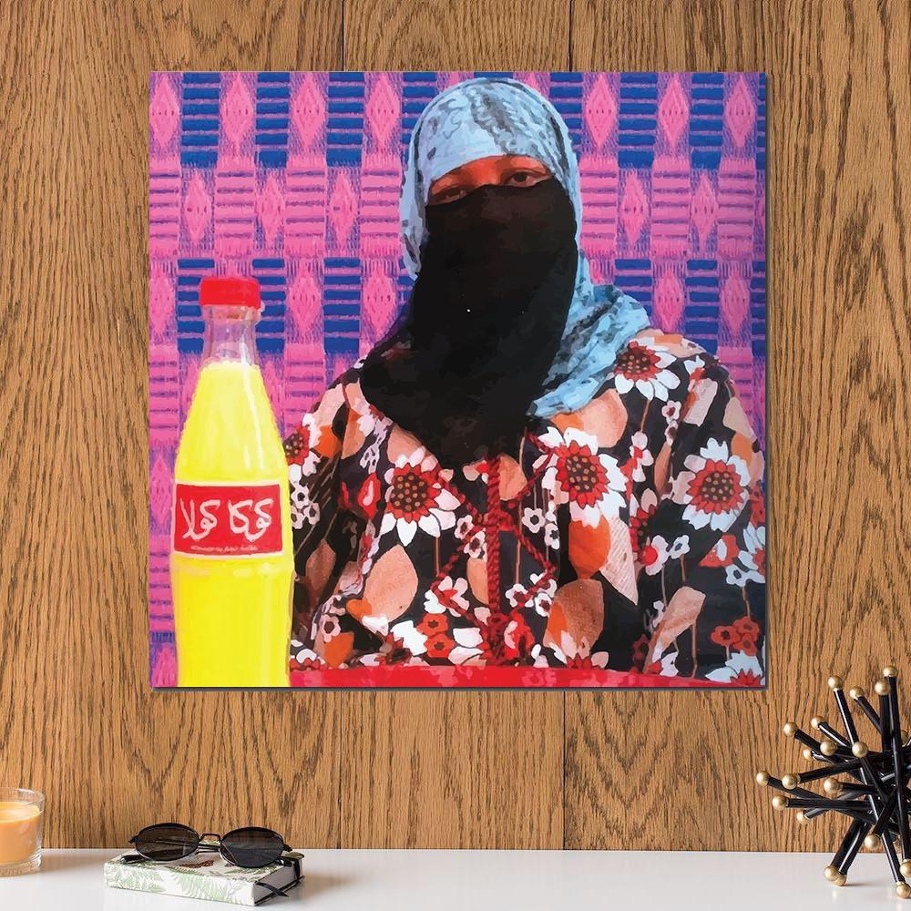 لوحة كوكا كولا خشب ام دي اف مقاس 30x30 سنتيمتر