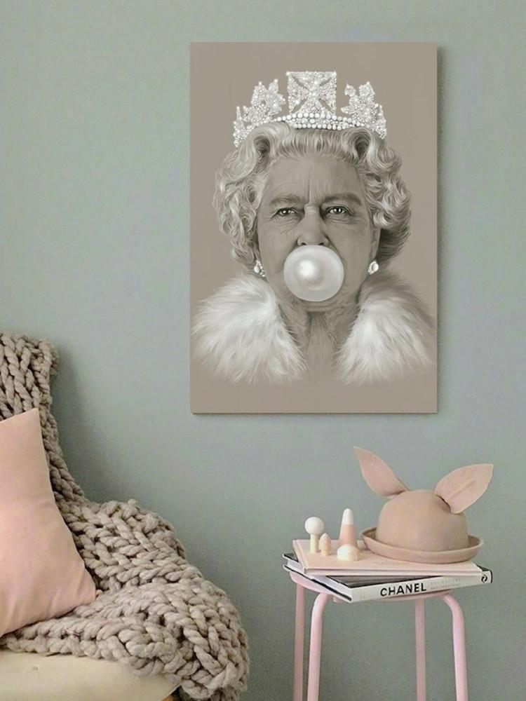 لوحة الملكة اليزابيث خشب ام دي اف مقاس 40x60 سنتيمتر