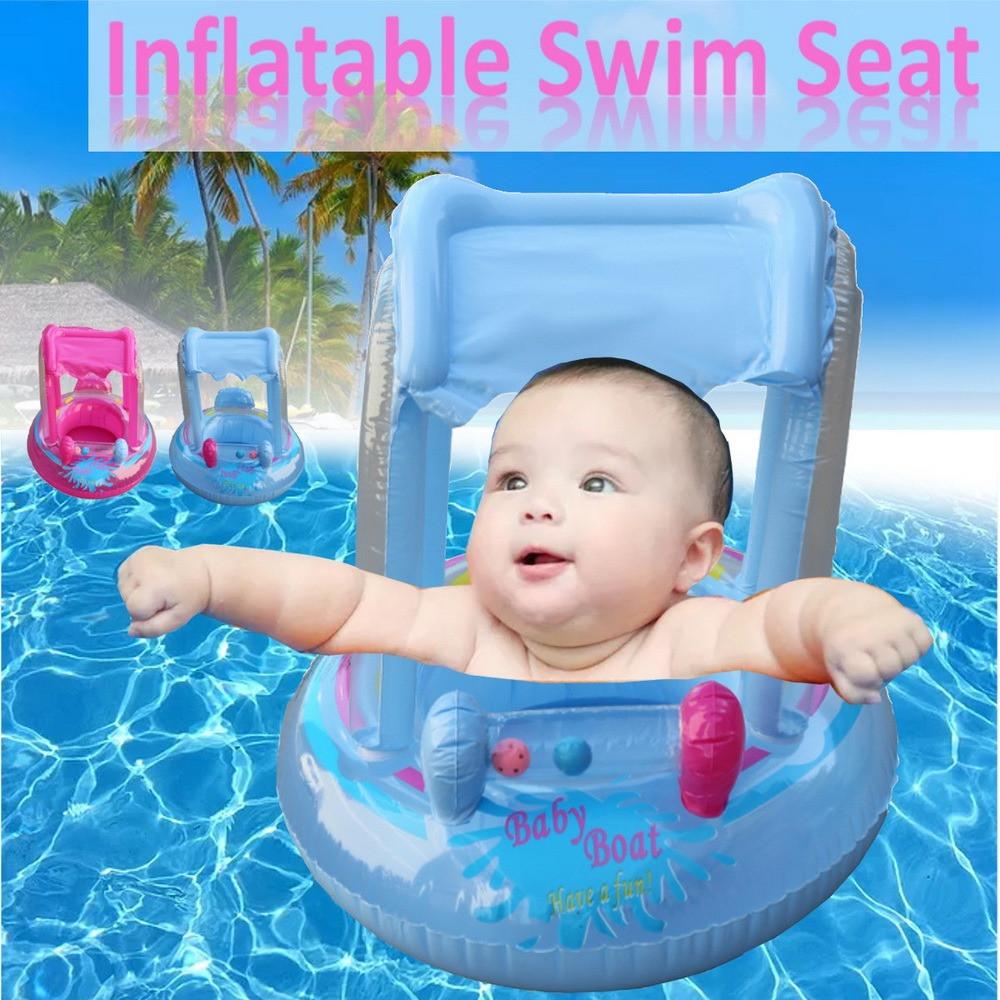 عوامة سباحة للأطفال مع مظلة مظلة شمسية للأطفال