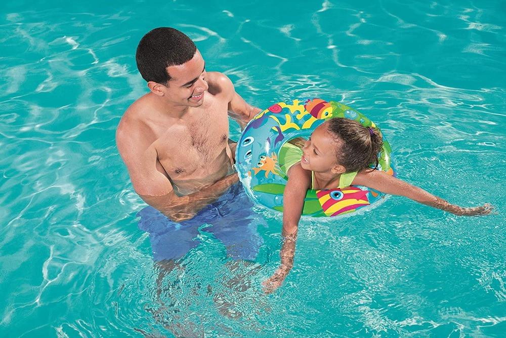 حلقة سباحة قابل للنفخ للعب بالماء مقاس 70 سم