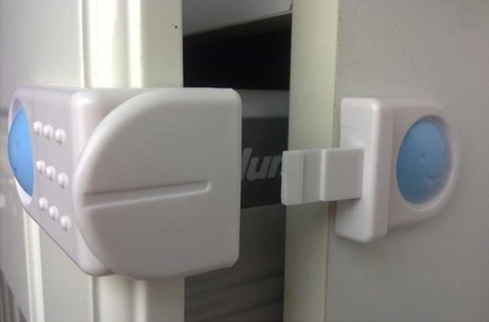 3 قطع قفل درج ثلاجة خارجي مزدوج لسلامة الاطفال