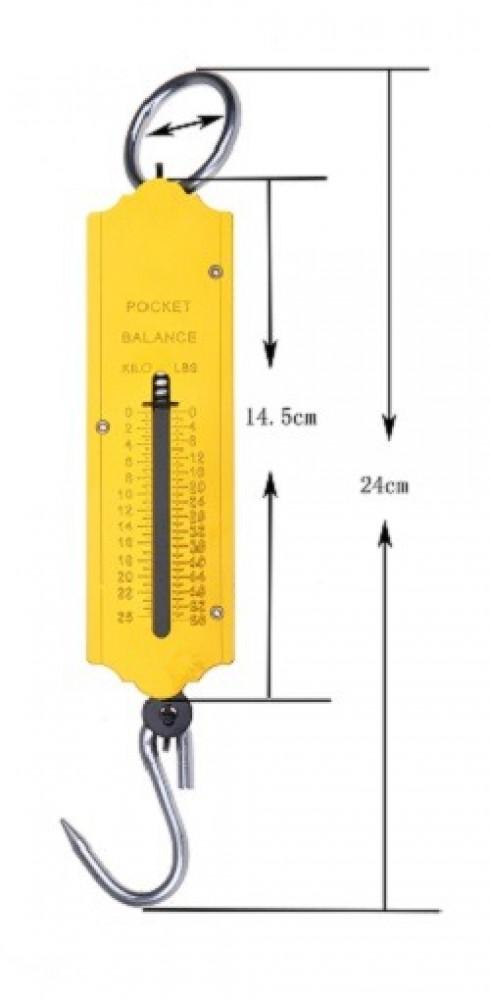 ميزان زنبركي معلق حمولة 25 كيلوغرام لقياس أمتعة السفر وللصيد