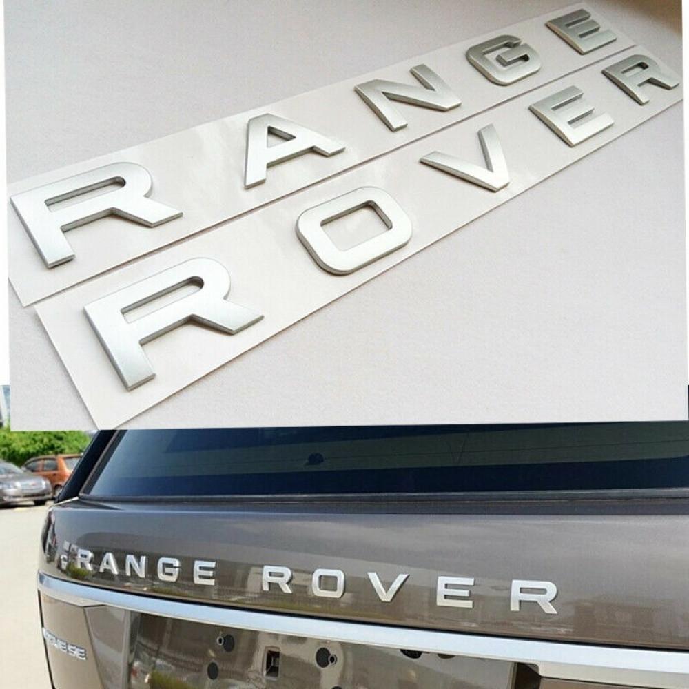 شعار حروف رنج روفر لسيارات لاندر روفر رصاصي