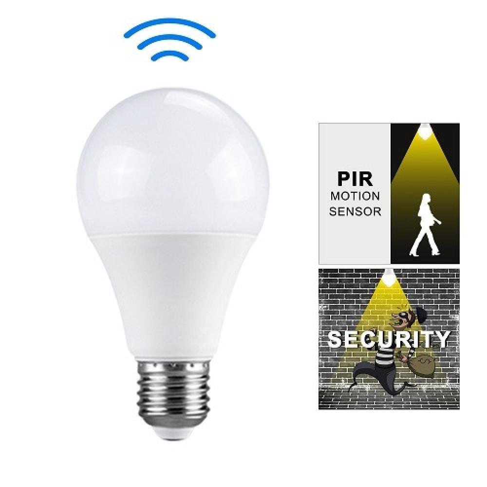 مصباح ذكي حساس حركة LED أبيض 220-240 فولت 12واط