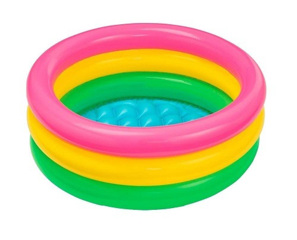 حوض سباحة استحمام قابل للنفخ للأطفال للعب بالماء مقاس داخلي 61X22 سم أ