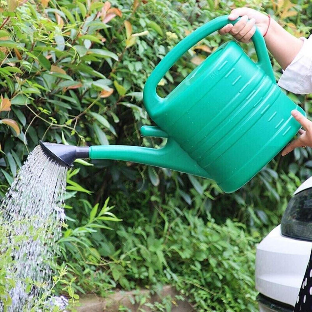 ابريق بلاستك لسقي لري نباتات الحدائق المنزل مقاس 8 لتر