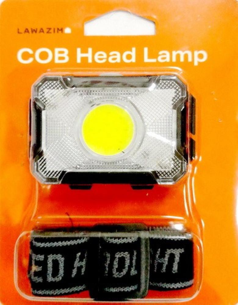 مصباح رأس COB إل إي دي 3 اوضاع مع حزام للرحلات والمشي ليلا