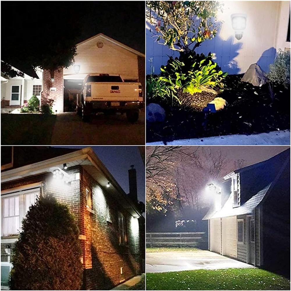 مصباح LED77 خارجي يعمل بالطاقة الشمسية مع مستشعر يركب على الحائط عل شك