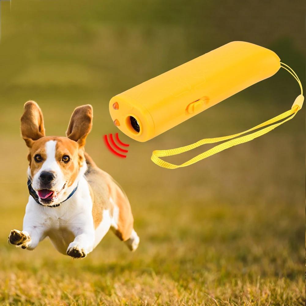 مكافح وطارد الكلاب والذئاب يعمل بالموجات فوق الصوتية برأس مزدوج مع إضا