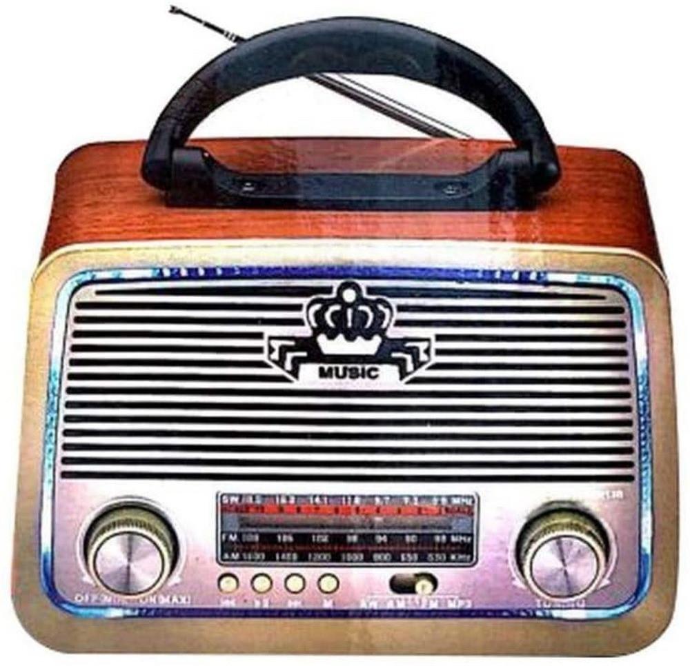 راديو بتصميم تراثي كلاسيكي  DLC-32213Bمع مشغل صوتيات يعمل على قنوات AM