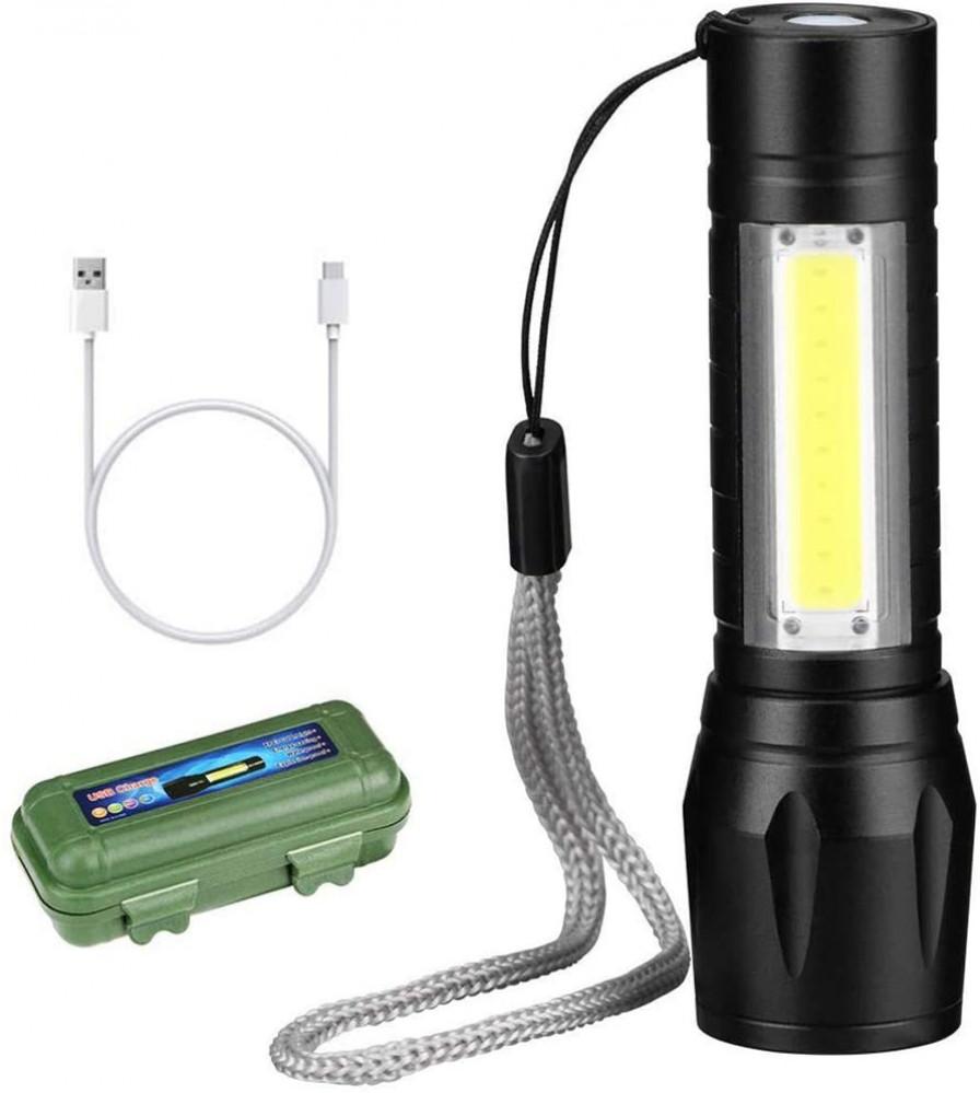 مصباح صغير الحجم ال أي دي يدوي قابل للشحن مع 3 اوضاع للإضاءة