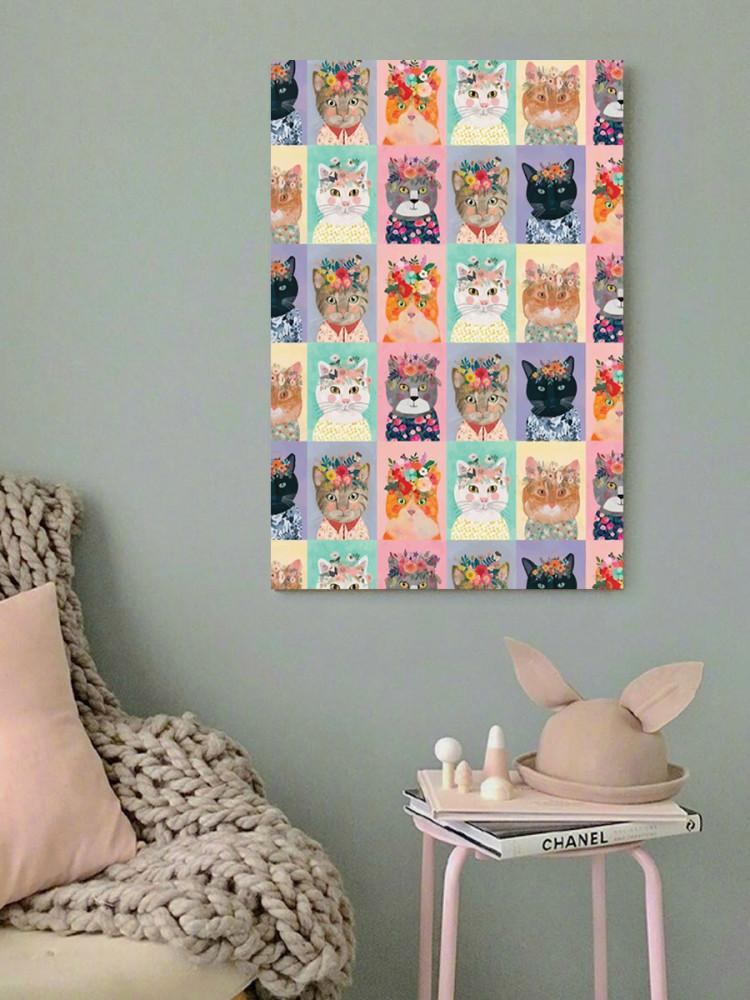لوحة القطط خشب ام دي اف مقاس 40x60 سنتيمتر