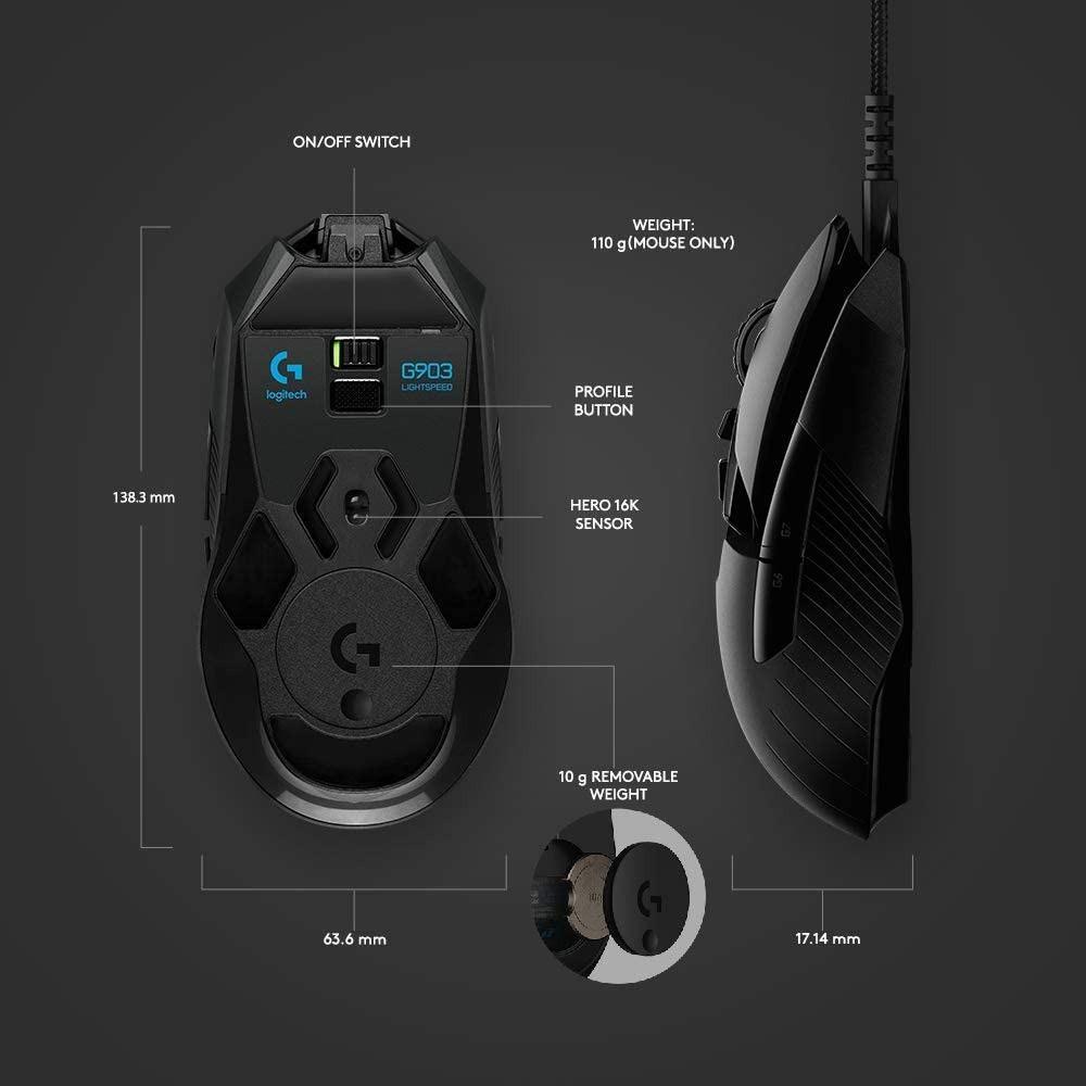 Logitech G903 LIGHTSPEED Wireless