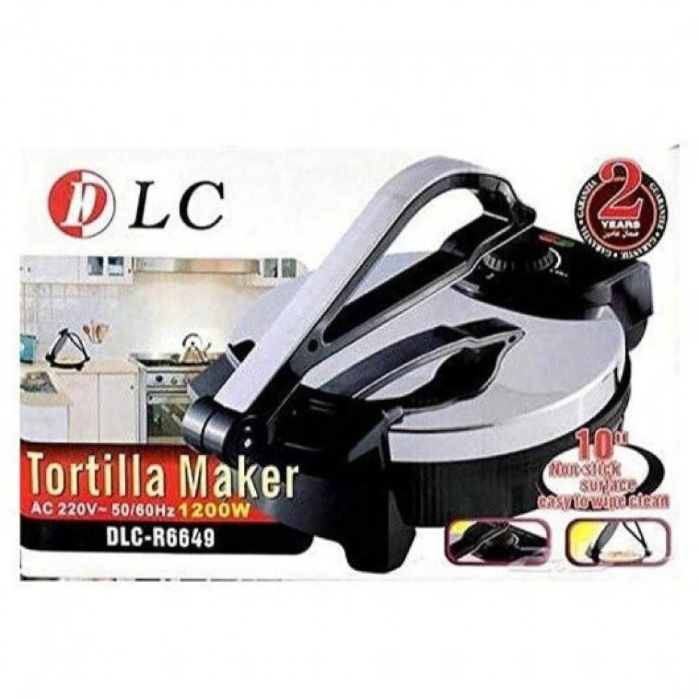 خبازه التورتيلا - خبازة تورتيلا الكهربائية مزودة بتايمر مقاس 10 انش