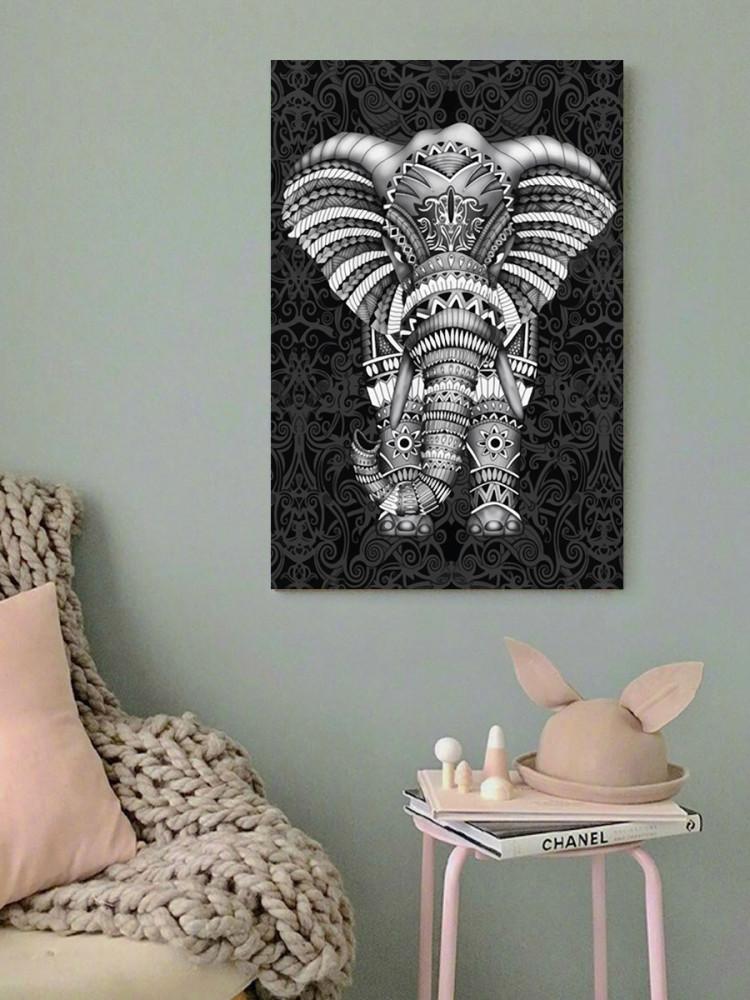 لوحة الفيل خشب ام دي اف مقاس 40x60 سنتيمتر
