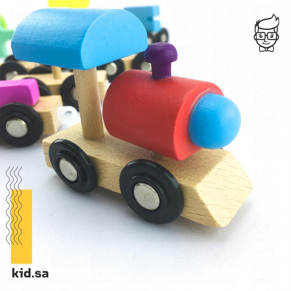 لعبة القطار الخشبي التعليمية