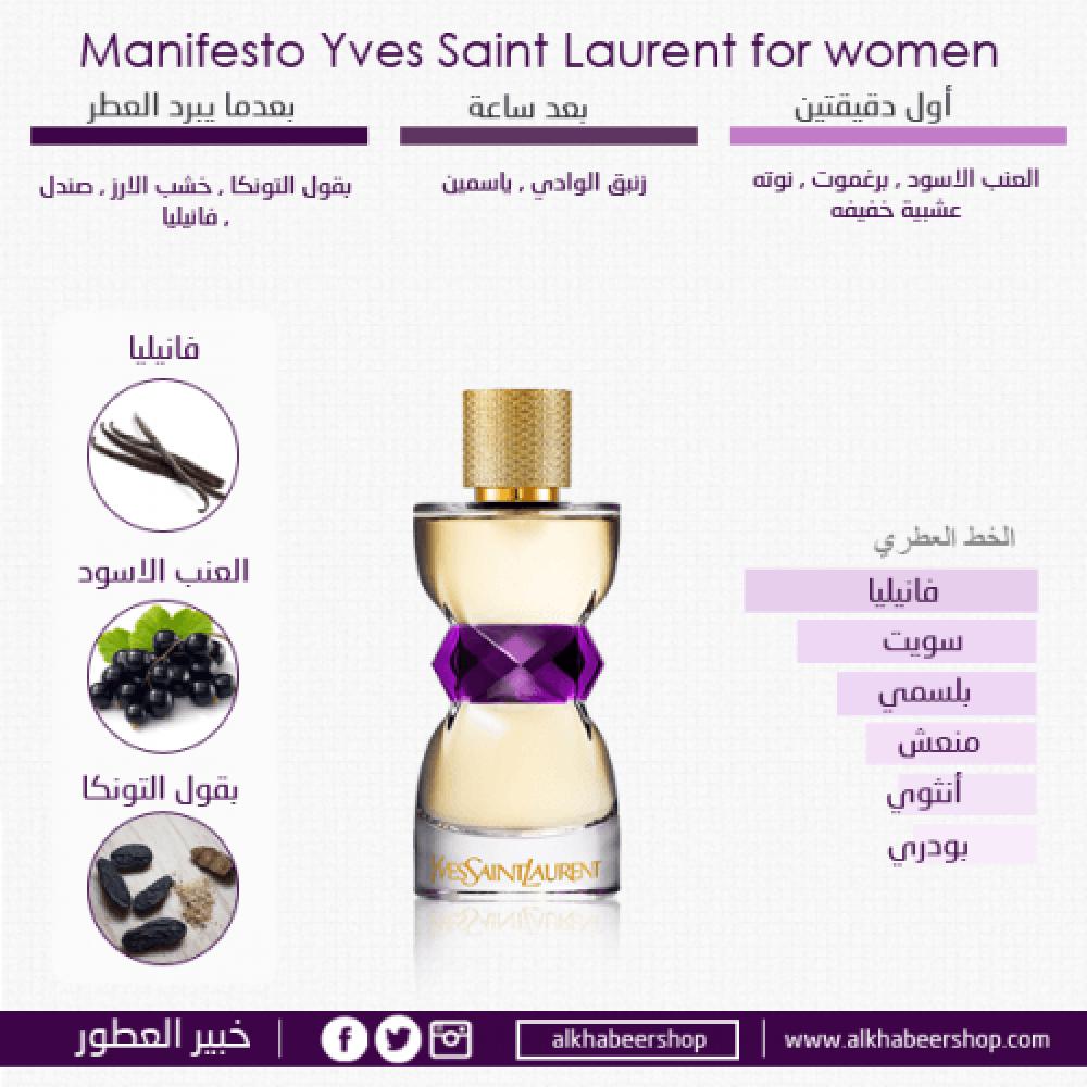 Yves Saint Laurent Manifesto Eau de Parfum 50ml خبير العطور