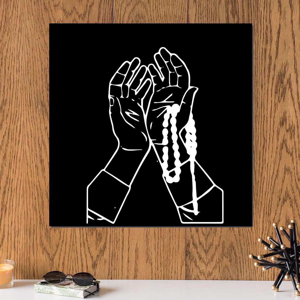 لوحة دعاء خشب ام دي اف مقاس 30x30 سنتيمتر