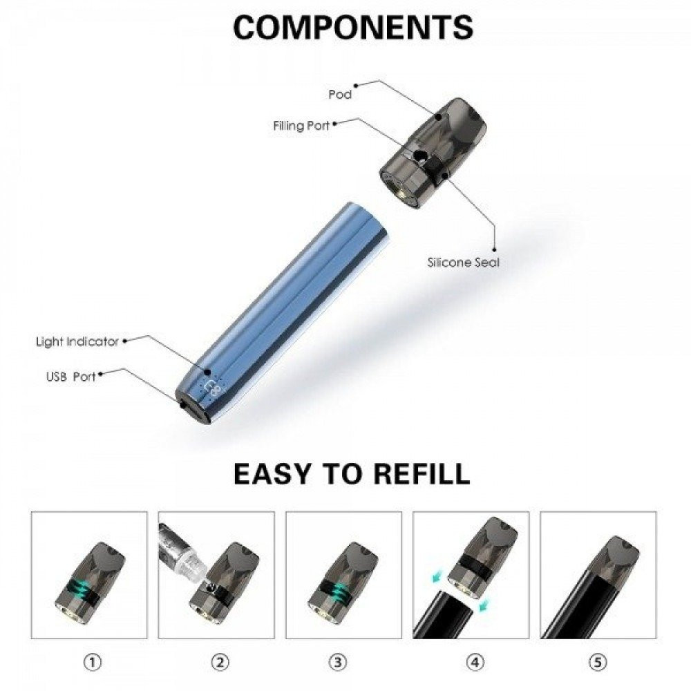جهاز سحبة سيجارة E8 بلس - E8 PLUS POD SYSTEM vapeants