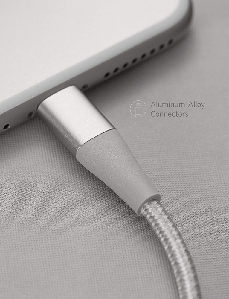 Anker Powerline Plus II Lightning Cable Silver