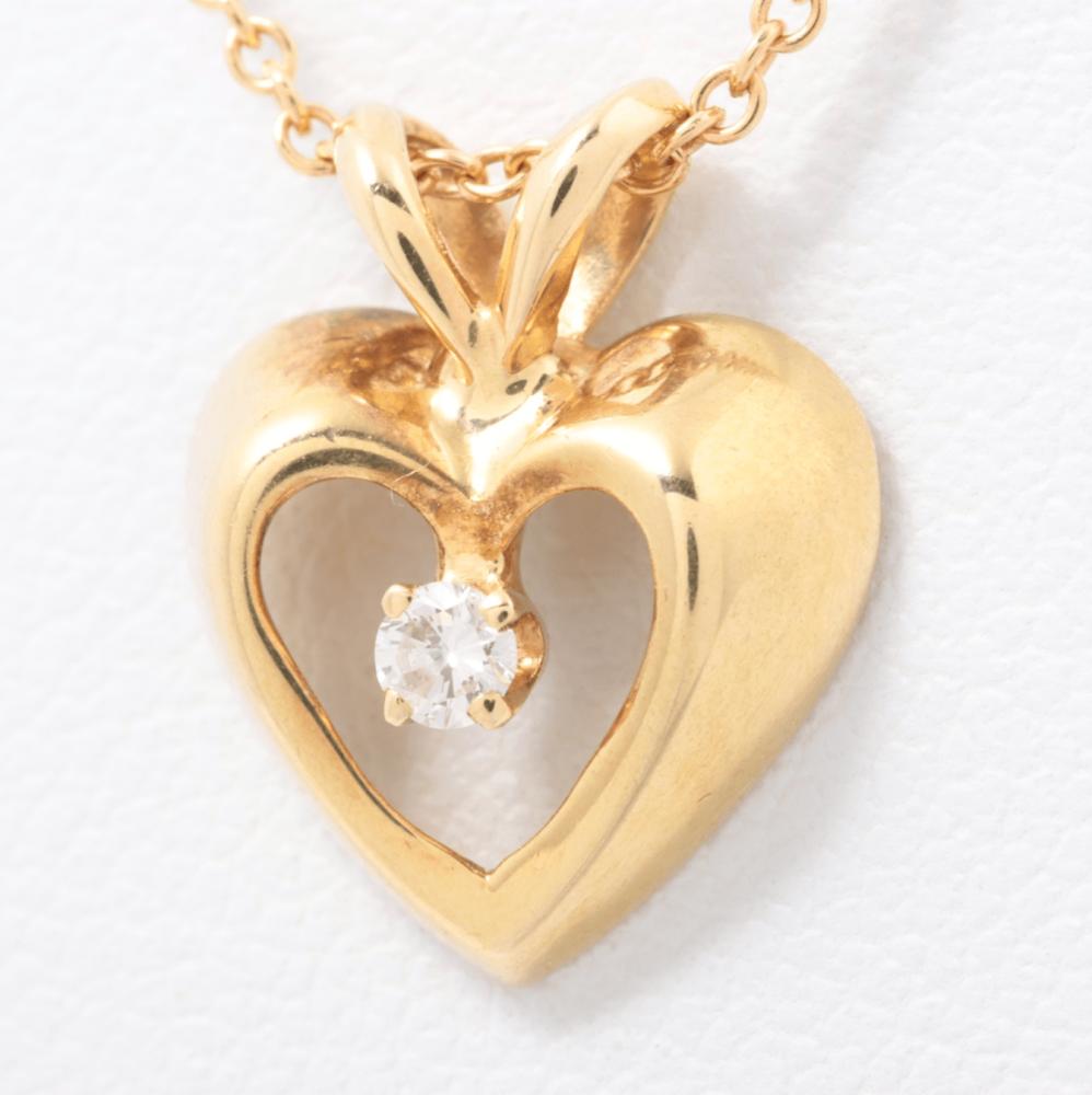 سلسال تيفاني هارت مع الماس الأصلي