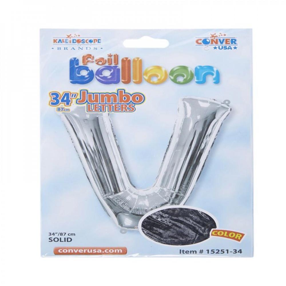 بالون فضي, Silver Balloon, بلونات أحرف, بالون حرف V