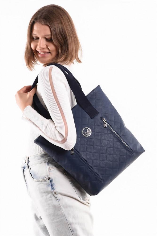 حقيبة كحلي موحدة اللون نسائية