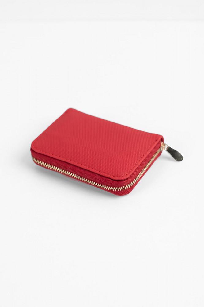 محفظة نقود حمراء صغيرة نسائية
