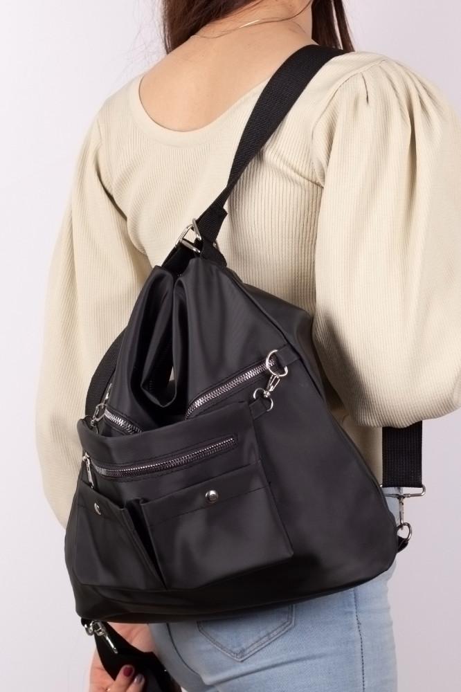 حقيبة كاجوال ستان سوداء نسائية