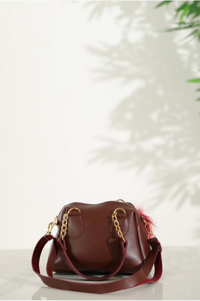 Claret Red Casual Bag