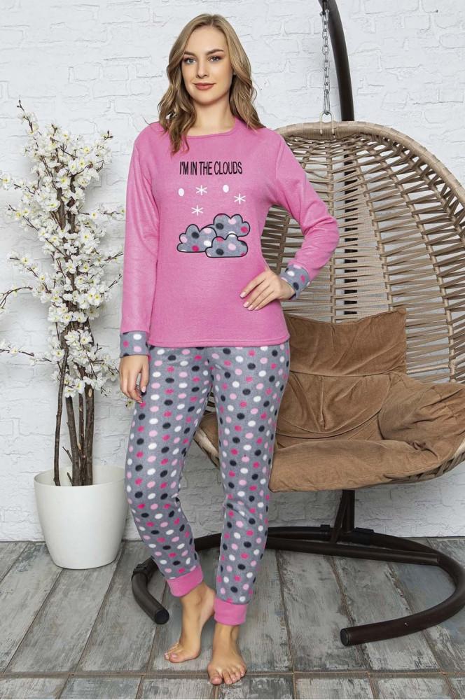 Patterned Pink Polar Pajama Set