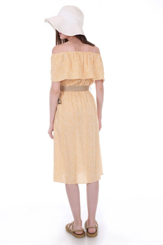 فستان مزخرف بدون أكتاف نسائي