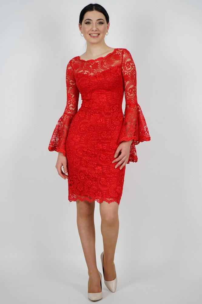 فستان سهرة قصير أحمر جوبير نسائي