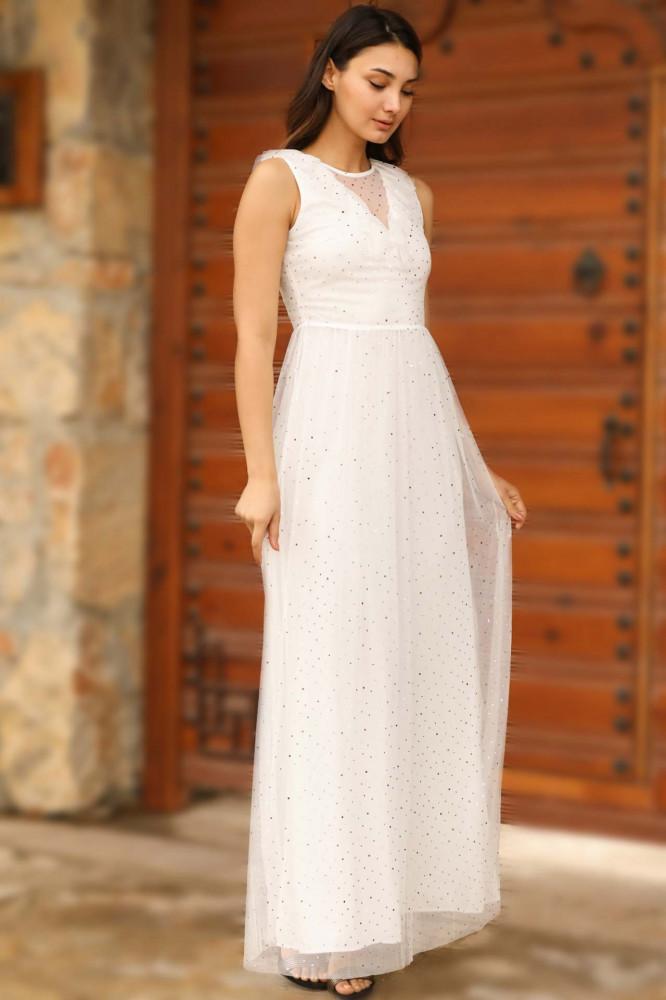 فستان سهرة إكرو بترتر نسائي