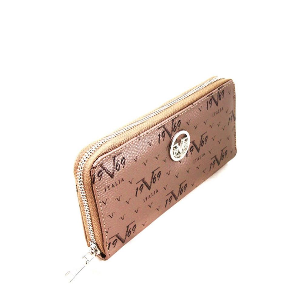 محفظة نقود بلاتيني بسحاب نسائية