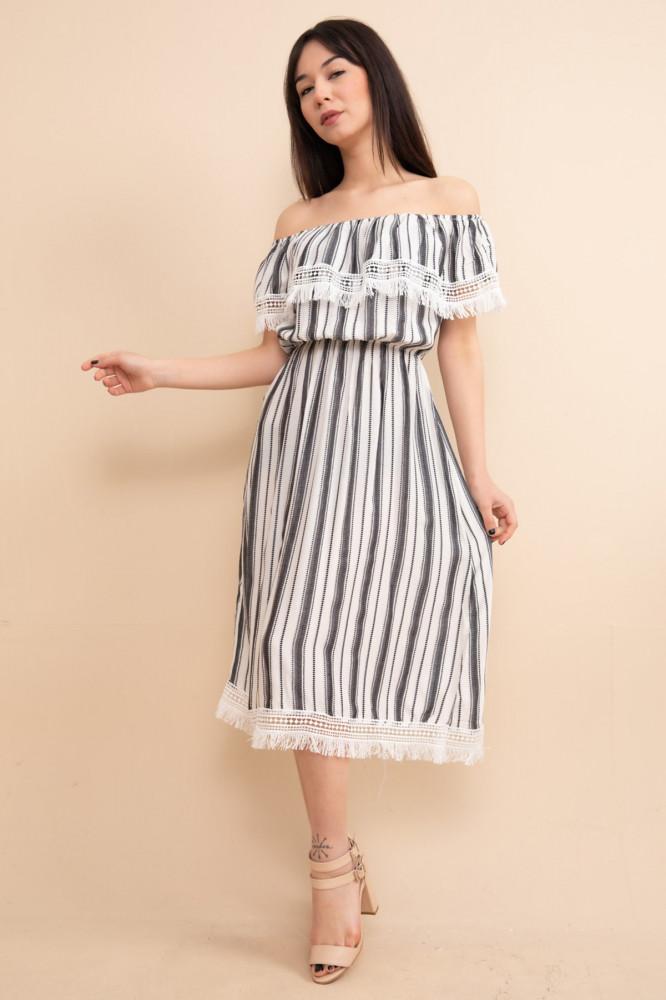فستان مفصل بشراشيب نسائي