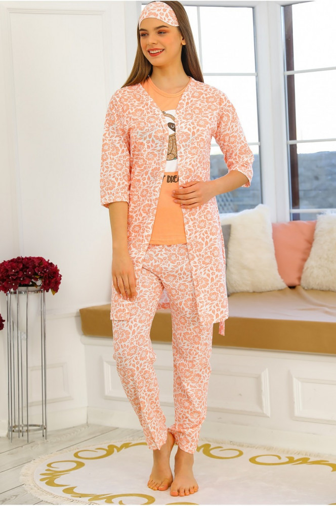 Light Pink Pajama Set - 4 Pieces