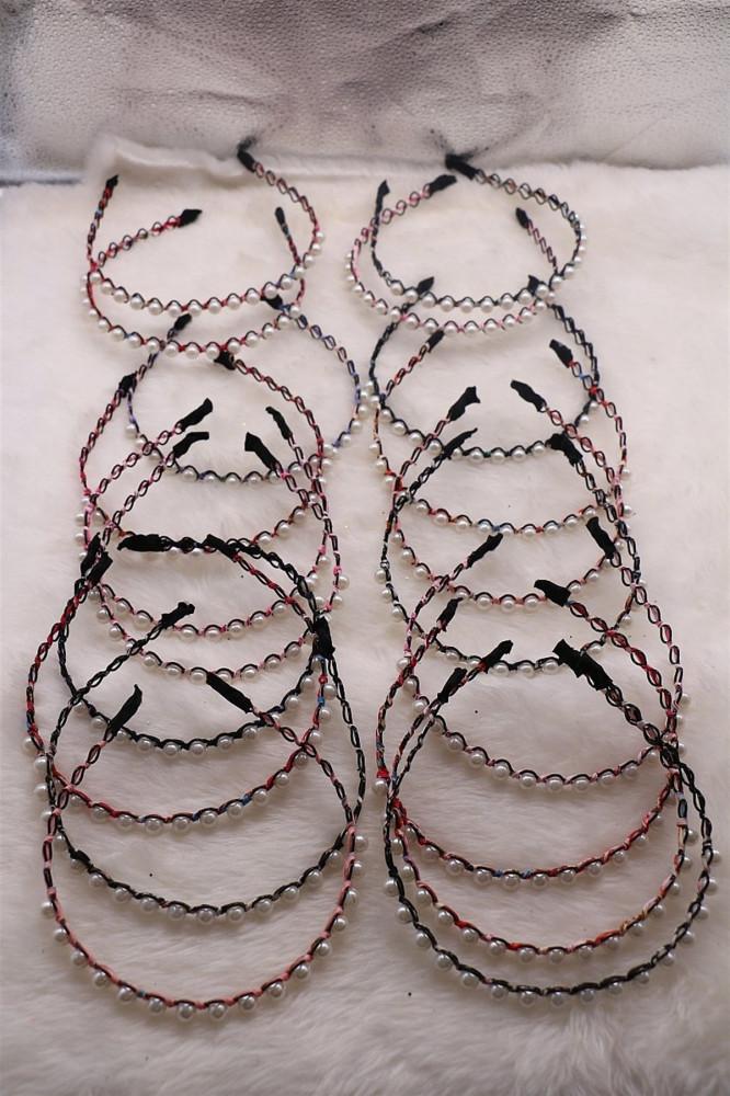 باند شعر ألوان متعددة بفصوص نسائية - 20 قطعة