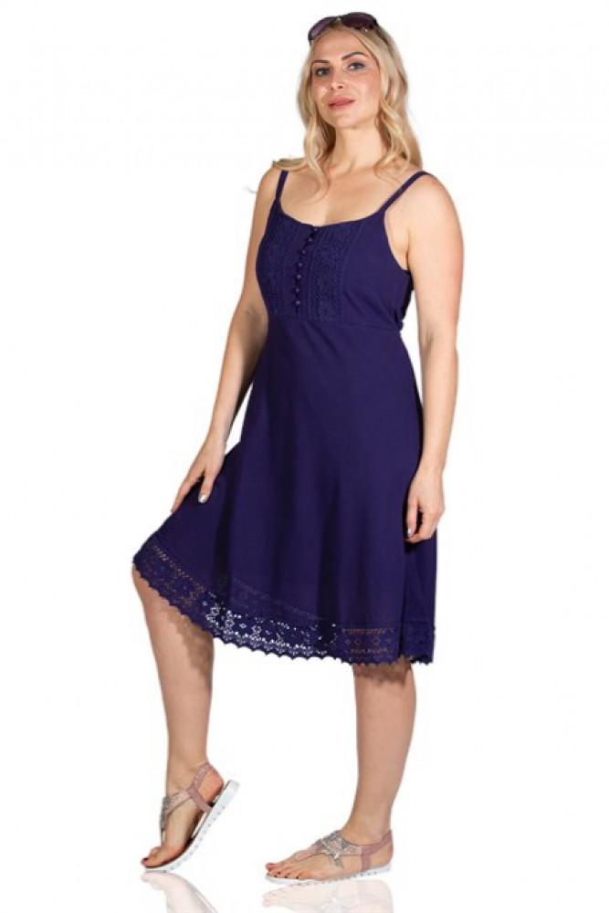 فستان قصير بنفسجي نسائي